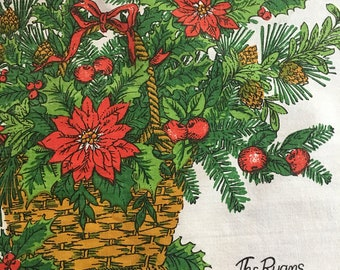 """Christmas Tablecloth personalized """"The Ryans"""""""