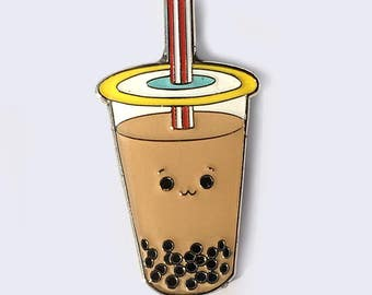 Boba Bubble Tea Milk Tea Enamel Pin - Asian Popular Culture