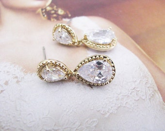Wedding Earrings Rhinestone Earrings Wedding Jewelry Bridal Accessory Bridal Earrings Bridesmaid Earrings