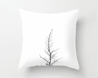Forlorn Tree Throw Pillow Cover