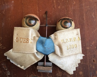 Be My Guest Be My Guest Antique Pinback Silk Ribbon