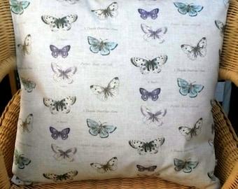 butterfly pillow cover - butterfly throw pillow - nature pillow - butterfly cushion cover - nature cushion - circus decor - circus pillow