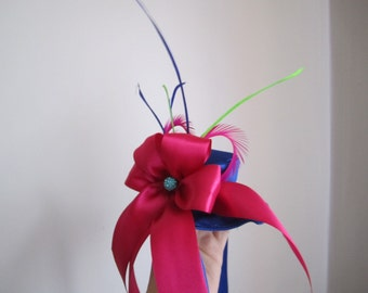 Dog Hat Navy With Hot Pink