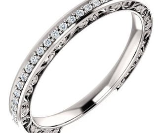 reserved Maryna, custom wedding band set ST233571, Gem1218