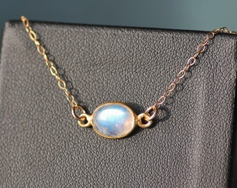 NEW Rainbow Moonstone Gemstone Choker,Bezel Gemstone Choker,14K Gold Filled,Minimalist,Layering Necklace,Gemstone Choker,Birthstone Jewelry