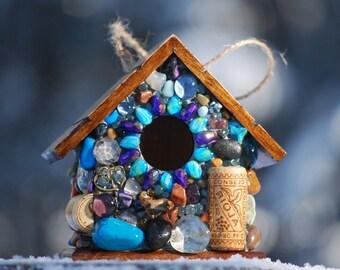 Custom for  mpalko001  mosaic birdhouse