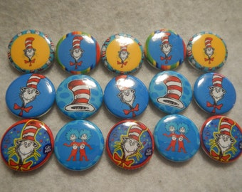 15 Cat Hat Inspired Craft Flat Back Embellishment Buttons