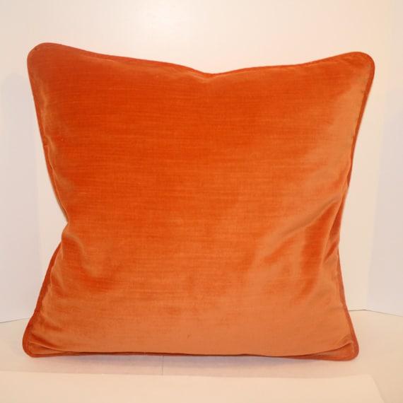 Orange Velvet Throw Pillows : Orange Velvet Pillow Cover Throw Pillow 18 Velvet