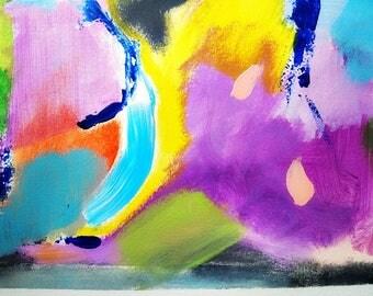 abstract art, acrylic art, colorful wall art, abstract painting, small paintings, mixed media art