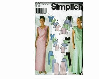 Bridal Formal Separates Simplicity 9687 Size 14 16 18 20 Bust 36 38 40 42 Mother of the Bride wedding bridal party Uncut Sewing Pattern