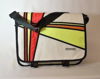 Messenger Bag, Laptop Bag, Nautical Bag, Bike Bag, Courier Bag,  Sailbag, Unisex Bag, Commuter Bag, White Bag, Neon Yellow Bag, Orange, Red