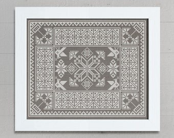 Slavic Cushion Pattern - Cross Stitch Chart - Instant Download PDF
