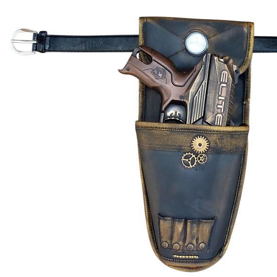 Steampunk TOY gun Nerf Elite Disruptor soft dart toy Holster-belt Cyber gothis cospla Vampire Zombie Man by UmbrellaLaboratory steampunk buy now online