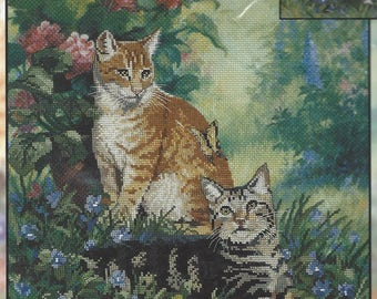 90s Hobbs & Topper Picture Embellished Cross Stitch Kit Candemar Designs Kit 51069 Designed by Linda Picken UnOpened Cross Stitch Kit