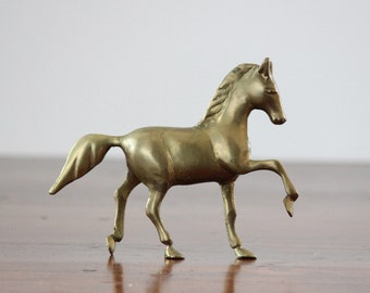 Vintage Solid Brass Horse Figurine, Equestrian, Stallion Figurine makes a lovely desk accessory or home accent, Gift for the horse lover
