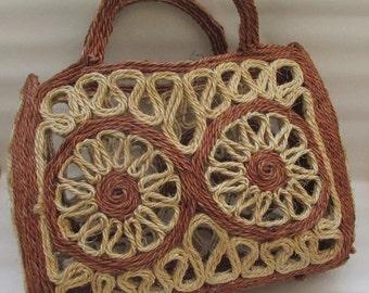Fantastic Vintage Spanish Sisal Rope Market Bag