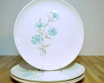 Vintage Chateau Buffet Boutonniere Ever Yours  Taylor Smith and Taylor Dinner Plates Set of Four TST Robin Egg Blue