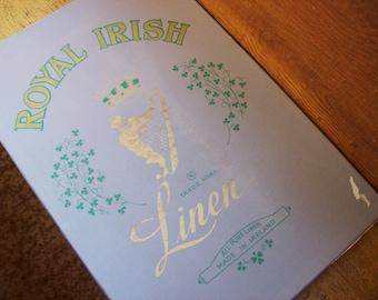 Irish linen placemats,four linen placemats, Royal Irish Linen, made in Ireland