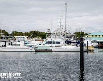 Harbor View - Fine Art Photo, Wall Decor, Florida Harbor, Boat Photo, Florida Harbor photo