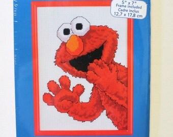 Elmo Cross Stitch Kit Janlynn Sesame Street Counted Cross Stitch Elmo Surprise Janlynn 1997 Unopened