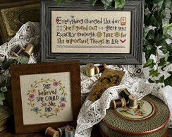 She Believed She Could cross stitch pattern by Lizzie*Kate at thecottageneedle.com Easter Best Friend Nashville