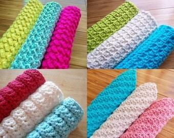 Any 4 Spa Cloth Washcloth Crochet Patterns PDF
