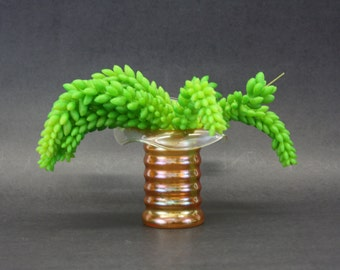 Vintage Mod Peach Lustreware Art Glass Vase (E7873)