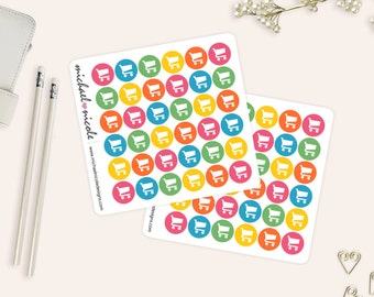 Shopping Stickers, Grocery Stickers, Shopping Cart Stickers | Item MP-042