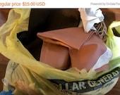 On Sale Now Destash Huge Lot of Leather Scraps, Ties, etc