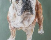 """Commission for Jackie, Acrylic painting on canvas of Amber, 16"""" x 16"""", rest payment"""
