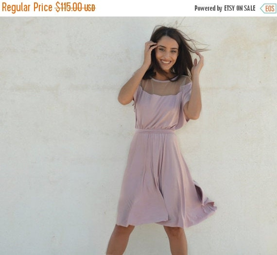 Cyber monday sale light pink bridesmaid dress full by barzelai for Cyber monday wedding dresses