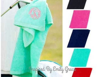 Golf Towel- monogrammed towel, Father's Day Gift, Graduation gift, personalized gift, corporate gift, golf tournament