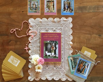Mysteries of Mary Tarot Cards Deck and Book Set