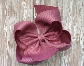 M2M made to match pearls & piggytails mauve girls small single hair bow
