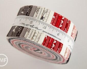Mama Said Sew Revisited Jelly Roll, BasicGrey, Moda Fabrics, Pre-Cut Fabric Strips, 5610JR