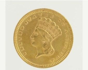 1 Dollar Gold Coin Etsy