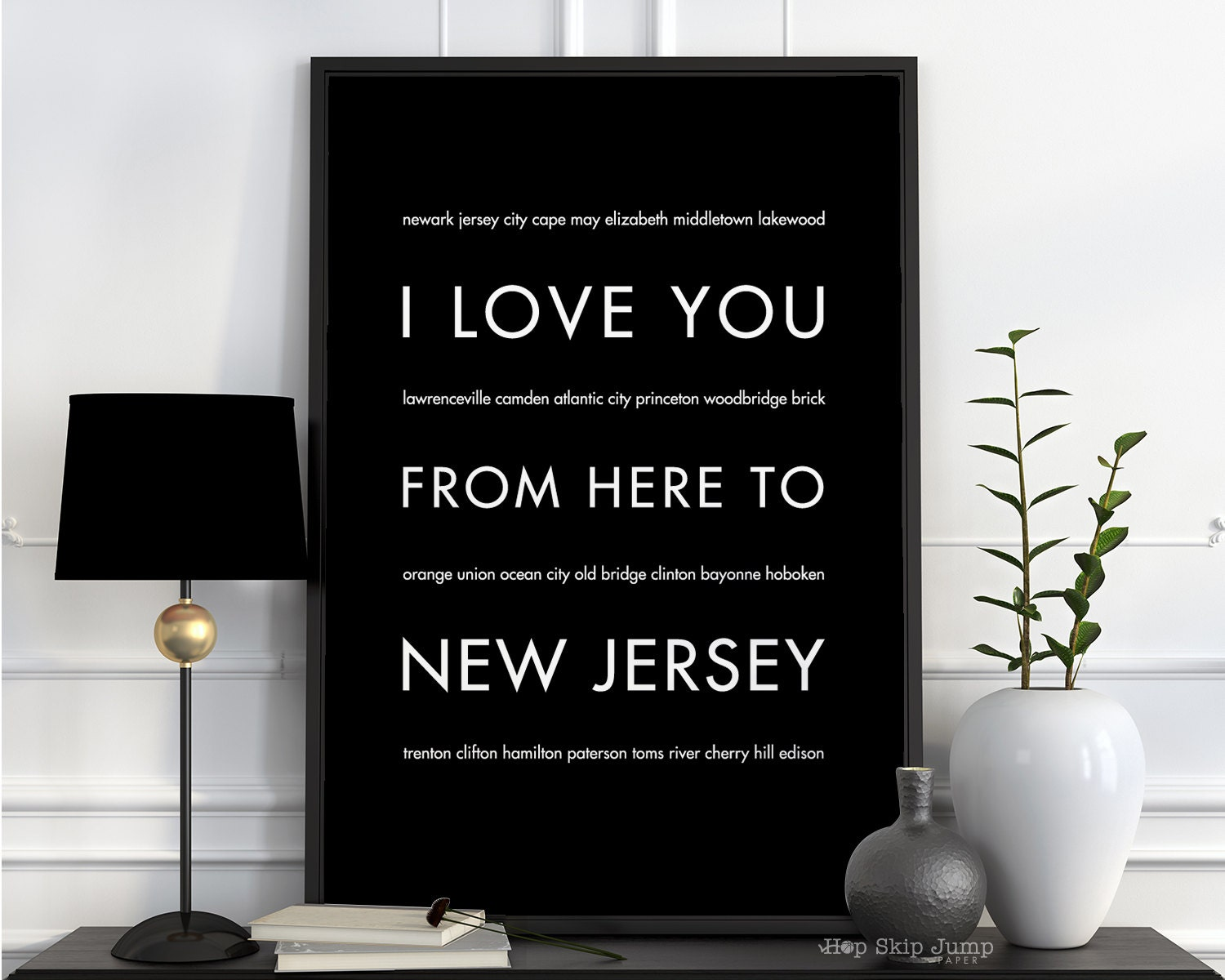New Jersey Print Jersey Shore New Jersey Gift Home Decor I