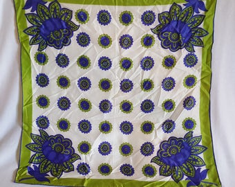 Green and Purple Floral Vera Scarf