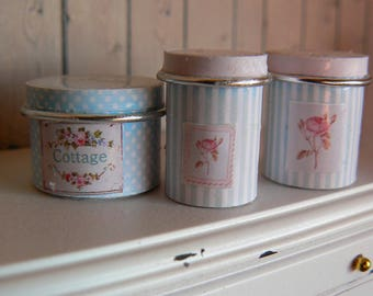 Jars of dollhouse kitchen - Tin can - 01:12 Scale Dollhouse miniature