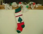 Christmas Stocking, VERY LARGE Hand Knit Christmas Stocking, Gift for Him, Gift for Her Handmade Christmas Stocking