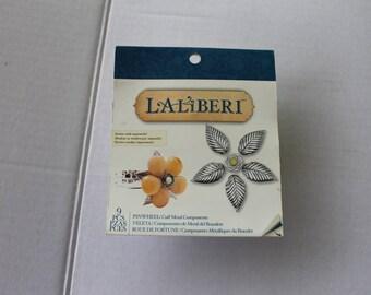 LaliBeri Pinwheel Floral Leaf Cuff Bracelet Jewelry Making Components Kit