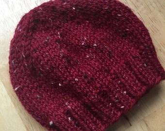 Newborn Baby Boy Baby Girl Hat, Soft, Machine Washable, Red Tweed Baby Hat, Photo Prop