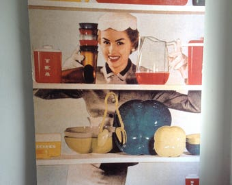 """Large Store Display Poster.   Copy of 50's PRINT.  Mounted onto heavy cardboard 38"""" X 24""""."""