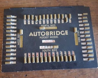 1946 patent Auto Bridge with 37 game sheets.