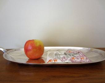 Vintage leaf shaped silver tray.