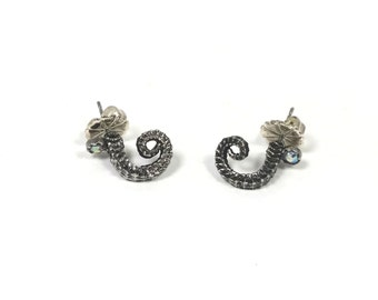 Seahorse Tail post earrings