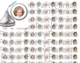 DIY Print at Home Golden Girls Confetti or Hershey Kiss Sticker Label- Golden Girls - Dorothy- Blanche- Rose- Sophia- Golden Girls Party