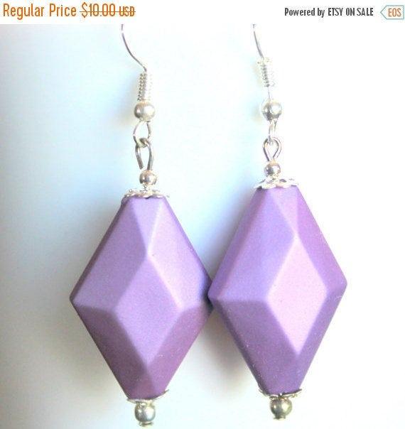 Lavender Earrings,Dangle Earrings,Diamond Earrings,.925 Sterling Silver Earrings,Lightweight Earrings,Sensitive Ears Earrings,Gifts for Her