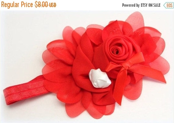Red and White Headband/Girls Red Headband/Baby Girls Headband/Newborn Headband/Baby Headbands/Baby Girls Headband/Rose Headband/Bow Headban