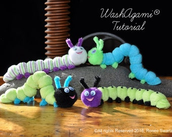 Washcloth Caterpillar, Baby Washcloth Caterpillar , WashAgami® , Instructional Video